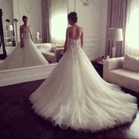 acme flowers - Elegant Strapless Bridal Gown with Royal Chapel Train Hand Made Flowers Acme Costly New Luxury Princess Wedding Dresses