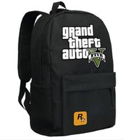 bags surrounds - Hot GTA5 GTA PC Games Mochilas School Kids Backpack For Teenagers Bags Anime Bag Mochila Surrounding Infantil Japan Animation