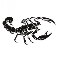 Wholesale New Fashion Personalized Scorpion Shape Reflective Car Sticker Truck Stick Cover the Scratch Black