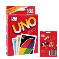 Wholesale UNO Poker Card Family Fun Entermainment Board Game Standard Edition Kids Funny Puzzle Game Christmas Gifts