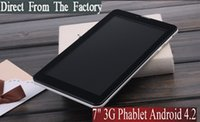 teléfono inteligente de 7 pulgadas Android 4.2 phablet abrió el teléfono de doble núcleo Dual Sim Bluetooth Tablet Pc Llamadas GSM Wifi 1.2Ghz de doble cámara
