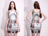 athens blue - New Autumn Dresses For Women Designer Fashion the School of Athens Dress Milk Style Sundress FG1510