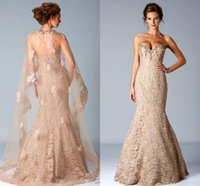 fashion square - New Vintage Dress Strapless Lace Appliques Mermaid Mother Of The Bride Dresses With Tulle Jacket Formal Evening Gown