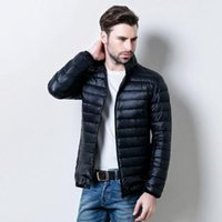 Wholesale Warm down jacket winter jacket men high end fashion brand solid jacket coat White duck down outdoor men s clothing down jackets