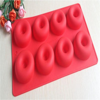 Wholesale 2014 New Donut Shape Round Muffin Sweet Candy Jelly Fondant Cake Chocolate Mold Silicone Tool Baking Pan DIY
