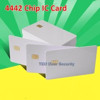 pvc card - 10pcs Per ISO White PVC Card with SEL Chip Contact IC Card Blank Contact Smart Card
