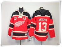 Wholesale Wings Datsyuk Red ICE Hockey Hoodies Jerseys Best quality stitching Jerseys Sports Hockey jersey Mix Order