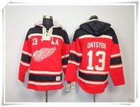 best hoodies - Wings Datsyuk Red ICE Hockey Hoodies Jerseys Best quality stitching Jerseys Sports Hockey jersey Mix Order