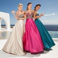 Cheap 2015 Tarik Ediz Prom Dresses A-Line Sweetheart Sleeveless Crystal Beading Floor Length Formal Evening Gowns
