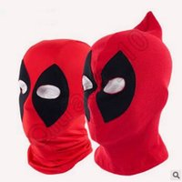 Wholesale 100pcs LJJC3517 New Arrival Deadpool Mask Cosplay Balaclava Halloween Cosplay Costume X men Hats Arrow Deathstroke Rib Fabric Full Face Mask