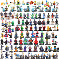 Wholesale TMNT The Simpsons Zombie World Super Hero Minecraft Chima Lord Ring SWAT Avengers No Box building blocks