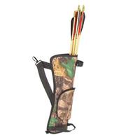 Wholesale FS Hot Portable Archery Quiver Arrow Holder Bow Back Side Waist Hanging Buckle Zip Pocket cm order lt no track