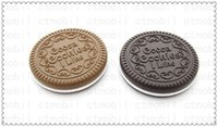 Wholesale Mini Cute Cocoa cookies Mirror pocket portable Mirror chocolate sandwich biscuit makeup mirror Plastic Makeup Tools Face Compact Mirror Comb