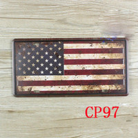Wholesale CP97 USA Flag Vintage Metal Tin Signs Bar Pub Cafe Home Art Metal Signs Size about cm