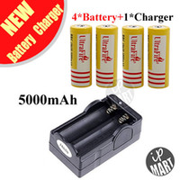 Wholesale Ultrafire Battery mAh V Rechargeable Li ion Battery Yellow Battery Charger