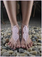 Wholesale New summer fashion hot sale European and American style cotton handmade crocheted bikini anklets