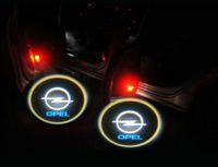 astra zafira - 2PCS Gold th Gen LED car door Shadow laser projector logo light for OPEL Astra H Corsa D Meriva A Vectra C Zafira B Courtesy Laser