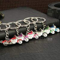 alloy motorcycles metal - 2015 New motorcycle key ring pendant creative couple key chain car key ring High quality