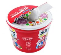 Cheap 20 pcs Noodle Cup Tissue Roll Holder Tissue Cover Assorted Color