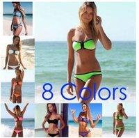Cheap Hot swimwear for women bikini neoprene neoprene bikini bikini ladies swimwear swimsuit fabrics diving mens underwear lace bras