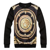 clothing chain - Europe Fashion Men s Clothing Tshirts Spring Male D Printing Charater Long Sleeve Sweater Tshirt Big Boys Chain Tees Tops M L XL H2683