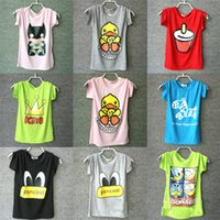 Wholesale Kids Tshirt costume clothing boys and girls t shirts Baby Round collar Short Sleeve Crew Neck Summer Cotton Top T shirt