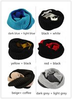 knitted cashmere scarf - Fashion Hot Scarf Women Spring Knitting Cashmere Scarf Collar Neck Women Ring Women Scarves