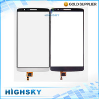 Cheap Original new replacement for LG G3 D855 touch screen digitizer outer glass with flex cable four colors 1 piece free shipping