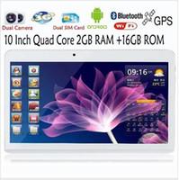 оптовых 32gb android tablet pc-10-дюймовый четырехъядерный планшет 3G Фаблет ПК Android 4.2 Ram 2 Гб ROM 32GB WiFi GPS встроенный 3G GPS телефонный звонок WiFi Bluetooth FM камеры HD 5MP