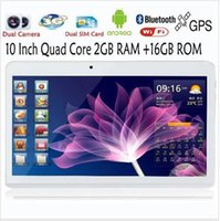 Wholesale 10 Inch quad core G tablet phablet pc android Ram GB rom GB wifi gps built G phone call gps wifi bluetooth FM MP camera HD