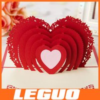 Wholesale valentins cards Wedding invitation card greeting card Master the ring D handmade card wedding heart and love D