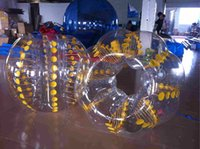 Wholesale With Video Amazing Kids M mm PVC Inflatable Bumper Bubble Football Bumper Ball Bubble Soccer Theme Beach Fun Large Inflatable Toys