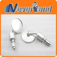 Wholesale 2015 New High Quality Motor CNC Aluminum Rearview quot Handle Bar End quot Side Rear Mirror Round Silver J25