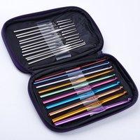 Wholesale High Quality Set Multi colour Aluminum Crochet Hooks Needles Knit Weave Craft Yarn