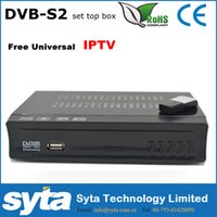 Wholesale Set Top Box Tv Tuner - SYTA OEM DVB-S2 HD Digital Video Broadcasting Receiver 950-2150MHz MPEG-2 -4 H.264 Set Top Box IPTV BOX S1022IPTV
