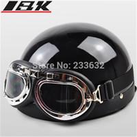 half face helmet - New summer helmet Open Face Half Motorcycle Goggles Motorbike Helmet moto helmet capacete
