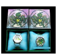 Wholesale Ninja Turtles TMNT New Dhl Crystal Watch Digital Watches Teenage Mutant Quartz Kids Child Christmas Gifts Children watch