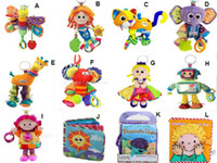 Wholesale mix styles Lamaze Toy Crib toys with rattle teether infant early development plush toys
