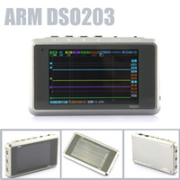 Wholesale Sale Titanium Color ARM DSO203 Nano V2 Quad CH Digital MINI Oscilloscope Silver Transparent Channel MS S Metal Cover