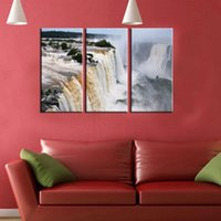 animal rage - Original US high tech HD Print Landscape Oil Painting Wall Decor Art on Canvas No frame Raging beautiful waterfall PC