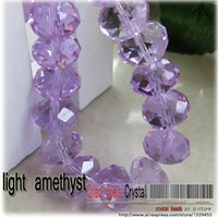 amythest rings - Glass Faceted Rondelle Beads clear pink and light amythest mm round new color bracelet beads for jewelry making