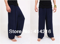 Wholesale colors blue gray red rose black high quality Tai chi pants Kung Fu martial arts trousers exercise dance yoga pants