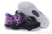 Cheap Kevin Durant VII KD 7 Mens Basketball Shoes Purple Black Thunder KD VII Low cut Sports Shoes Casual Footwear US7-12 EU40-46