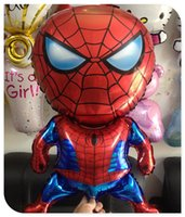 Wholesale x80cm spiderman Aluminum balloons foil baloon for birthday party decoration