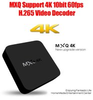 Wholesale Rk3229 MQX K TV Box US PLUG BLACK MXQ K UHD Android Streaming Media TV Kodi Wifi Upgraded Cortex A7 Chip