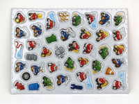 Wholesale Cartoon refrigerator sticker wall sticker kids toys classic anime action figure toy