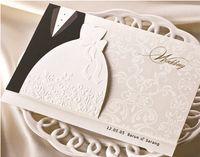 Wholesale Customized Wedding Invitation Cards bride and groom wedding invitation card with envelope customized or blank sheet