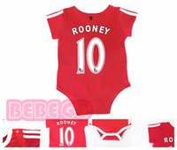 Wholesale New Summer style top quality cotton baby clothing Rooney Man U soccer Rompers with sock summer
