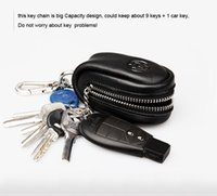 Wholesale colors Men s leather zipper Key Holder Multifunction leather car key wallet car key cases