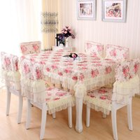 Wholesale Tablecloths For Wedding Home Top Fashion New Wedding The Tablecloth Decoration Fabric Table Dining Chair Cushion Cover Suit